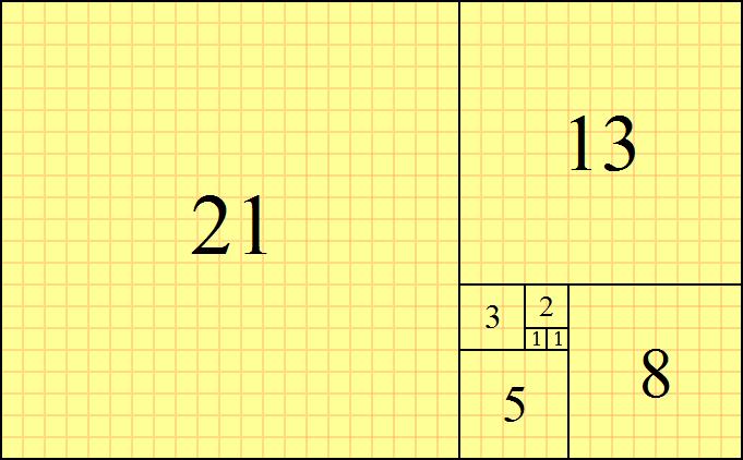 フィボナッチ数列の長方形01